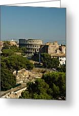 Italian Landscape With The Colosseum Rome Italy  Greeting Card