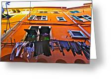 Italian Laundry Greeting Card