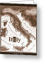 Italian Map Greeting Card