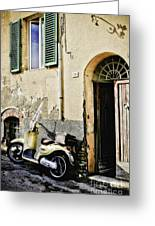 Italian Motor Scooter Greeting Card