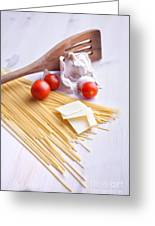 Italian Pasta Meal Greeting Card