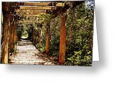 Italian Pergola Hallway Greeting Card
