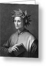 Italian Poet Dante Alighieri Greeting Card