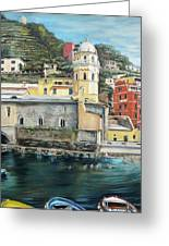 Italian Riviera - Cinque Terre Colors Greeting Card