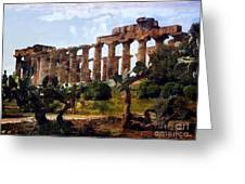 Italian Ruins 1 Greeting Card