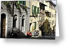 Italian Scooters Greeting Card