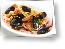 Italian Seafood Stew Greeting Card