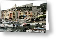 Italian Seaside Village Greeting Card