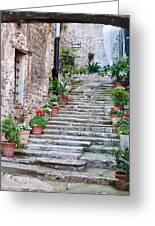 Italian Stairway Greeting Card