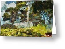 Italian Stone Pine Greeting Card