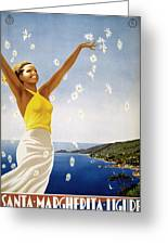 Italian Travel Poster, 1951 Greeting Card