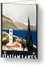 Italian Travel Poster, C1930 Greeting Card