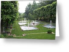 Italian Water Garden Greeting Card