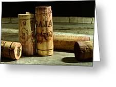 Italian Wine Corks Greeting Card