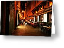 Bologna Italy Night  Scene Greeting Card