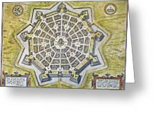 Italy: Palmanova Map, 1598 Greeting Card