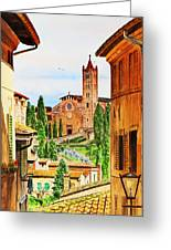 Italy Siena Greeting Card