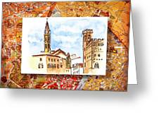 Italy Sketches Florence Towers Greeting Card