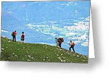 Italy Trekking Greeting Card
