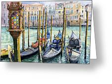 Italy Venice Lamp Greeting Card by Yuriy Shevchuk