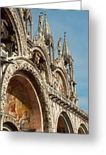 Italy, Venice Saint Mark's Basilica Greeting Card