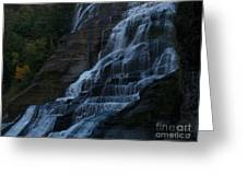 Ithaca Falls At Dusk Greeting Card by Anna Lisa Yoder