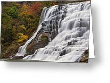 Ithaca Falls In Autumn Greeting Card
