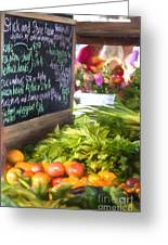 Farmer's Market Produce Stall II Greeting Card