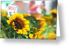 Farmer's Market Sunflowers Greeting Card