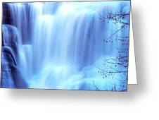 Ithaca Water Falls New York  Greeting Card
