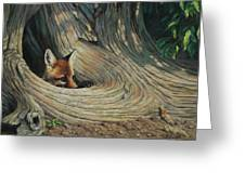 Fox - It's A Big World Out There Greeting Card