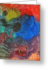 It's A Circle - Abstract Painting From A 2 Yr Old Boy Greeting Card