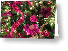 It's A Pink Christmas Greeting Card