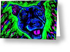 It's A Pitty Black Light Greeting Card