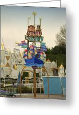 Its A Small World Fantasyland Signage Disneyland Greeting Card