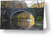 It's Autumn At The Valley Green Bridge Greeting Card