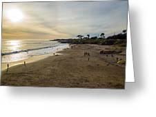 Its Beach Afternoon In Santa Cruz Greeting Card
