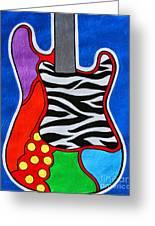 It's Electric Acrylic By Diana Sainz Greeting Card