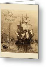 It's Five O'clock Somewhere Schooner Greeting Card