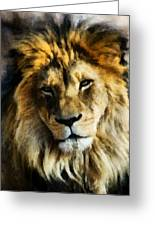 Its Good To Be King Portrait Illustration Greeting Card