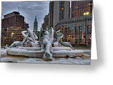 Its Icy In Philly Greeting Card