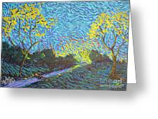 It's Just Over The Hill Greeting Card