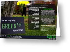 It's Not Easy Being Green Poster Greeting Card