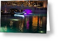 It's Not Venice - Brilliant Lights Glamorous Gondolas And The Magic Of Las Vegas At Night Greeting Card