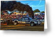 Its Only Money Pulling Truck Greeting Card