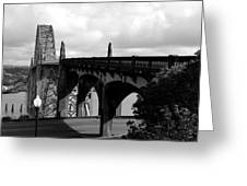 It's Water Under The Bridge  Greeting Card by Sheldon Blackwell