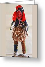 Ivory Coast Native Katchina Doll Greeting Card