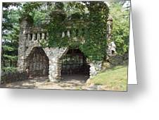 Ivy Covered Stone Wall Greeting Card