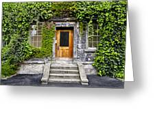 Ivy Covered Doorway - Trinity College Dublin Ireland Greeting Card
