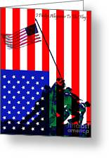 Iwo Jima 20130210 I Pledge Allegiance To The Flag Greeting Card by Wingsdomain Art and Photography